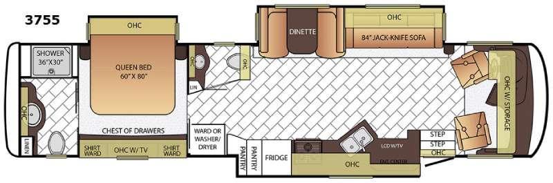 Canyon Star 3755 Floorplan Image