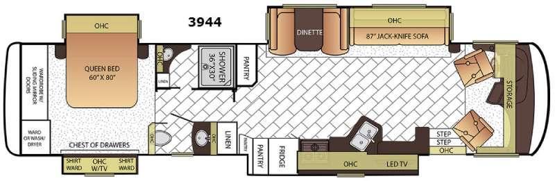 Canyon Star 3944 Floorplan Image