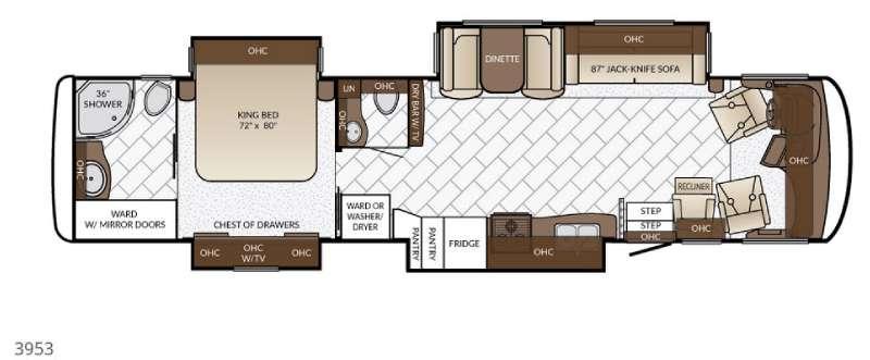Canyon Star 3953 Floorplan Image