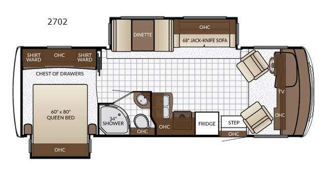 Bay Star Sport 2702 Floorplan Image