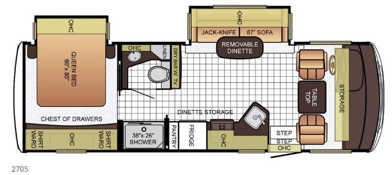 Bay Star Sport 2705 Floorplan Image