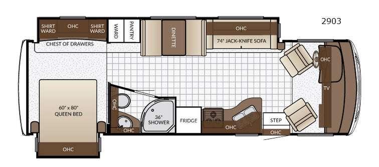 Bay Star Sport 2903 Floorplan Image