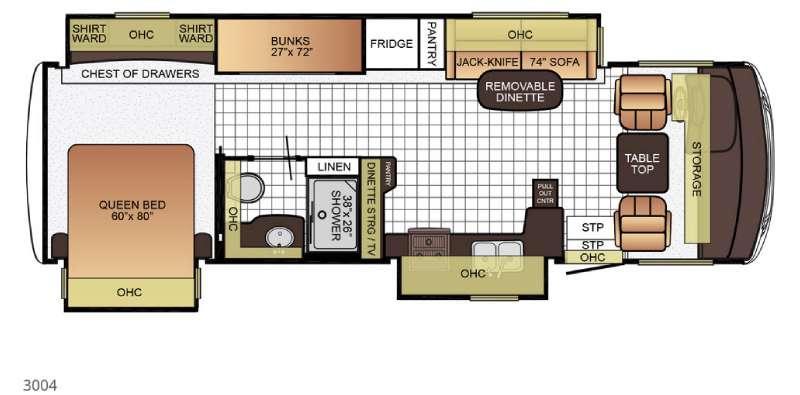 Bay Star Sport 3004 Floorplan Image