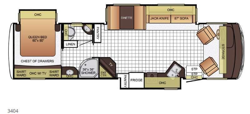 Bay Star Sport 3404 Floorplan Image