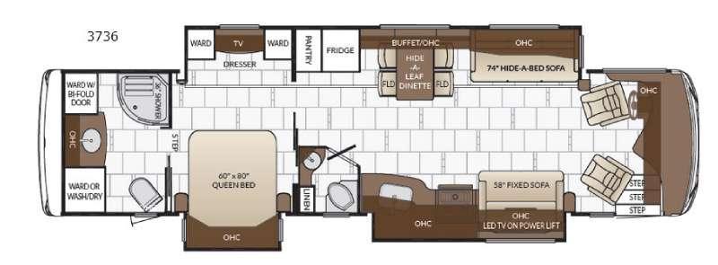 Floorplan - 2017 Newmar Dutch Star 3736
