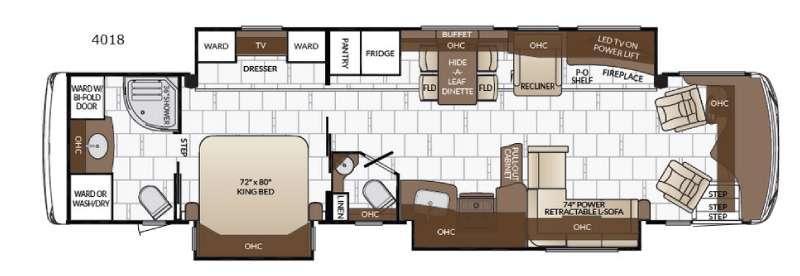 Dutch Star 4018 Floorplan Image