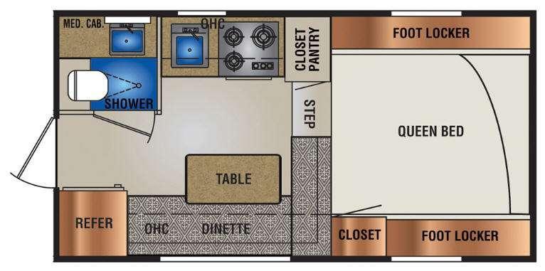Truck Campers 840SBR Series Floorplan Image