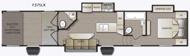 Powerlite F375LX Floorplan Image