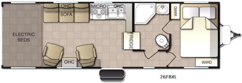 Powerlite XL 26FBXL Floorplan Image