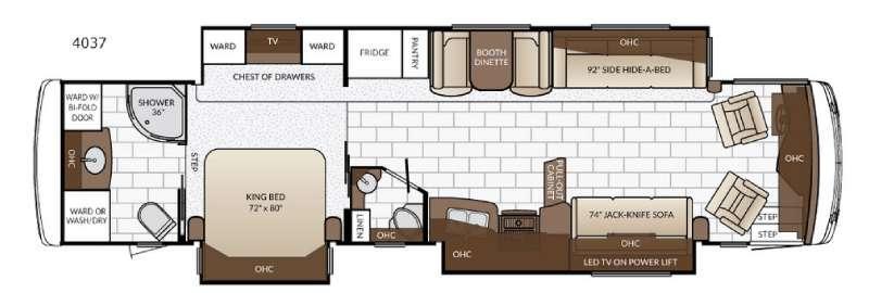 Floorplan - 2017 Newmar Ventana 4037