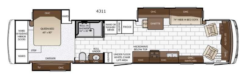Ventana 4311 Floorplan Image
