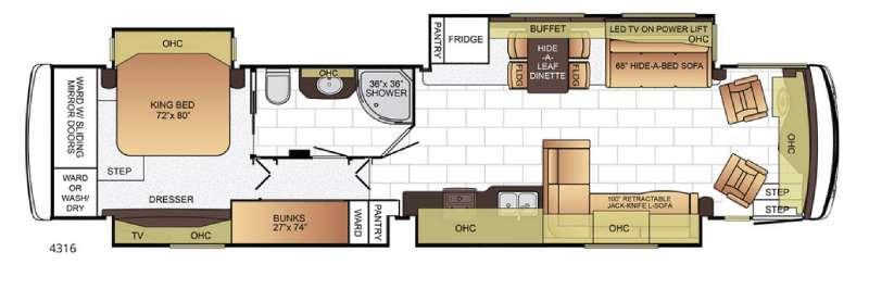Ventana 4316 Floorplan Image