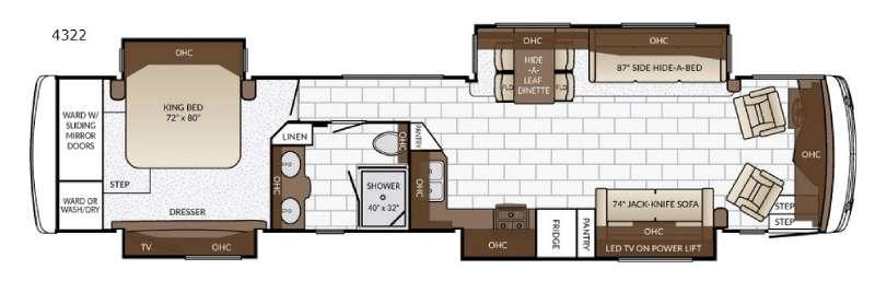 Ventana 4322 Floorplan Image