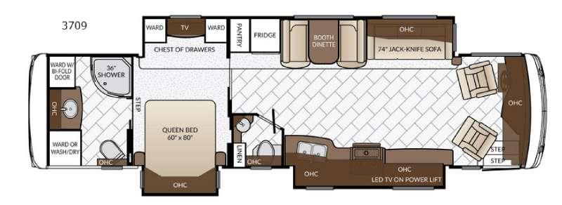 Floorplan - 2017 Newmar Ventana LE 3709