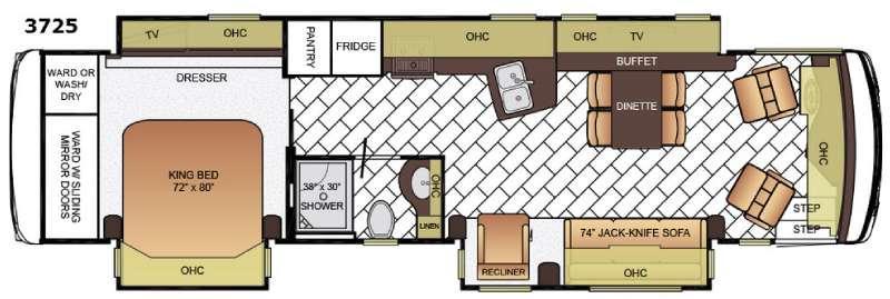 Ventana LE 3725 Floorplan Image