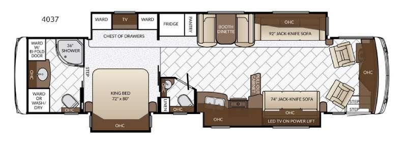 Floorplan - 2017 Newmar Ventana LE 4037