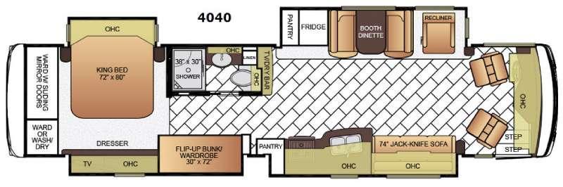 Ventana LE 4040 Floorplan Image