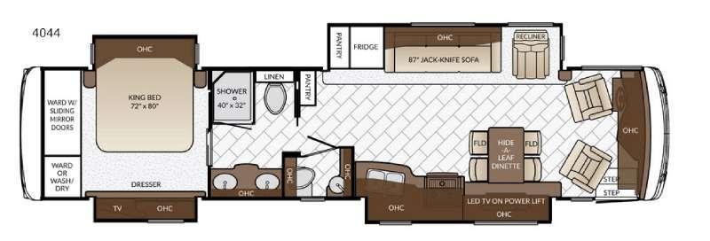Ventana LE 4044 Floorplan Image
