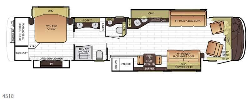 Floorplan - 2017 Newmar King Aire 4518