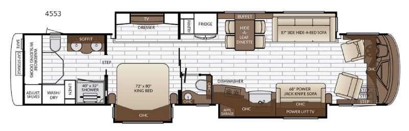 Floorplan - 2017 Newmar King Aire 4553