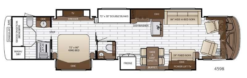 Floorplan - 2017 Newmar King Aire 4598