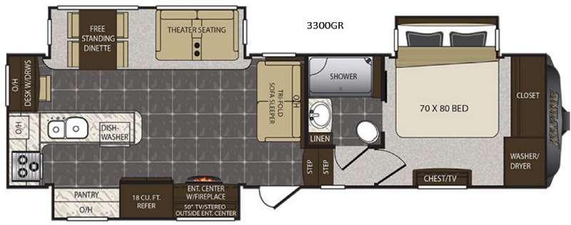Alpine 3300GR Floorplan Image