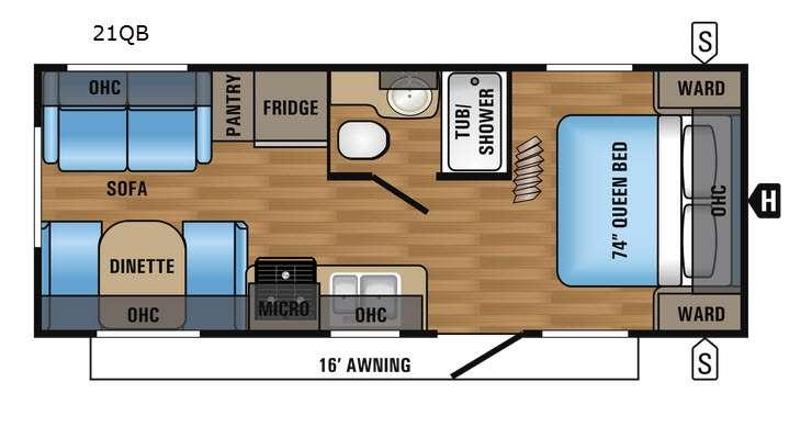 Jay Flight 21QB Floorplan Image