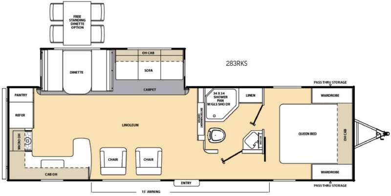 Floorplan - 2017 Coachmen RV Catalina Legacy 283RKS