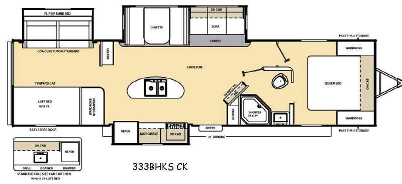 Floorplan - 2017 Coachmen RV Catalina Legacy 333BHKSCK