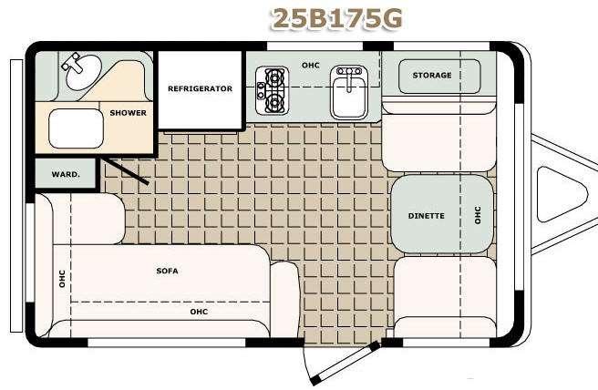 Floorplan - 2017 Bigfoot Industries Bigfoot 2500 Series Travel Trailer 25B175G