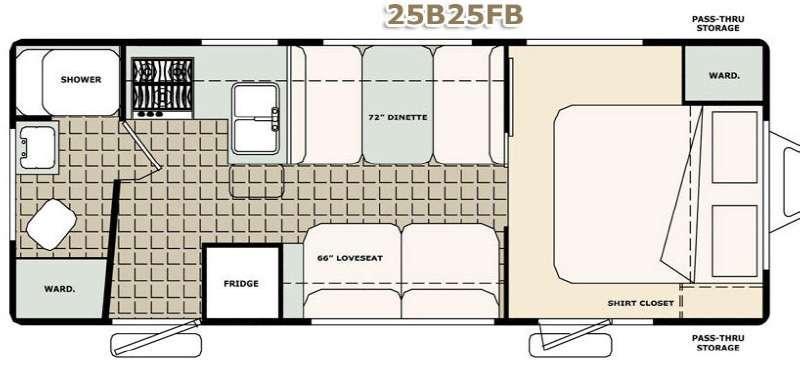 Floorplan - 2017 Bigfoot Industries Bigfoot 2500 Series Travel Trailer 25B25FB