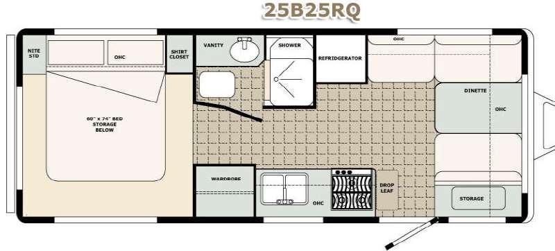 Floorplan - 2017 Bigfoot Industries Bigfoot 2500 Series Travel Trailer 25B25RQ