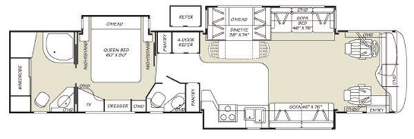 Floorplan - 2007 Fleetwood RV Excursion 40E