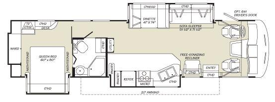 Floorplan - 2007 Fleetwood RV Southwind 37C