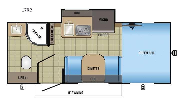 Hummingbird 17RB Floorplan Image
