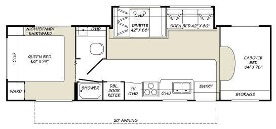 Floorplan - 2007 Fleetwood RV Tioga SL 31W