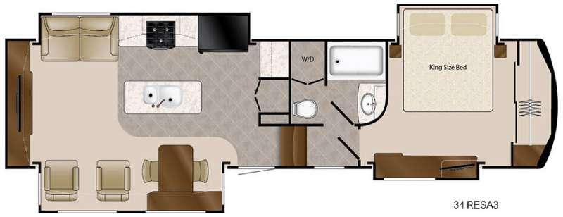 Travel Suites Limited Exploring Edition TS 34RESA3 Floorplan Image