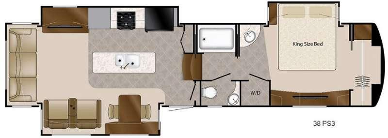 Travel Suites Limited Exploring Edition TS 38PS3 Floorplan Image