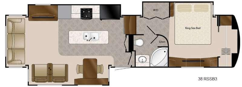 Travel Suites Limited Exploring Edition TS 38RSSB3 Floorplan Image