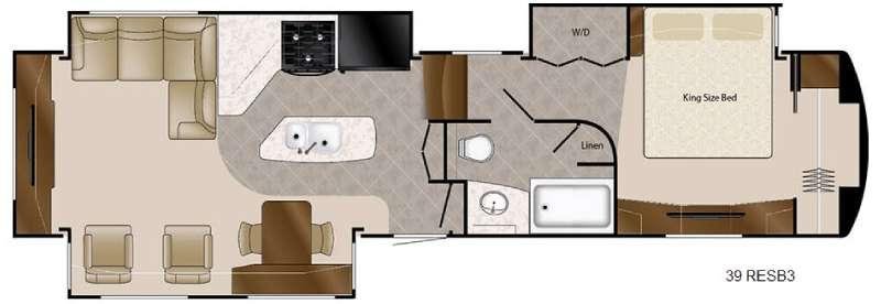 Travel Suites Limited Exploring Edition TS 39RESB3 Floorplan Image