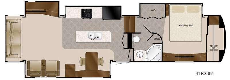 Travel Suites Limited Exploring Edition TS 41RSSB4 Floorplan Image