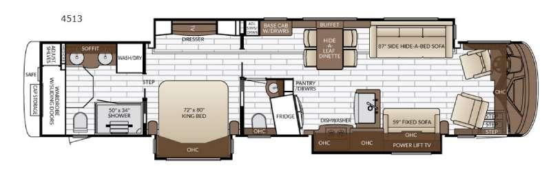 Floorplan - 2017 Newmar King Aire 4513
