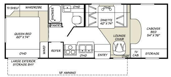 Floorplan - 2007 Fleetwood RV Tioga 26Q