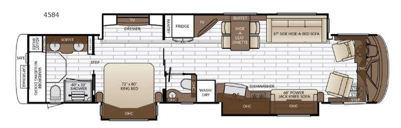 Floorplan - 2017 Newmar King Aire 4584