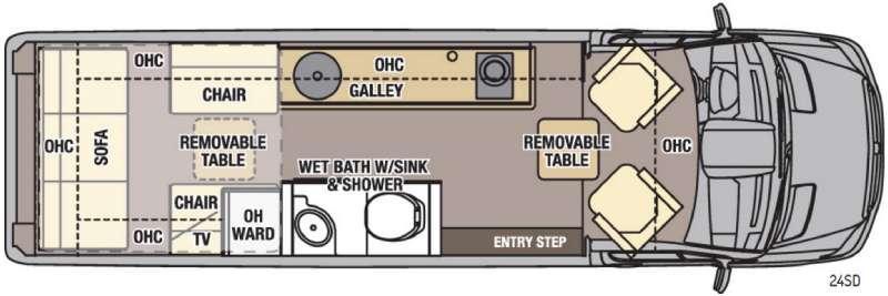Galleria 24SD Floorplan Image