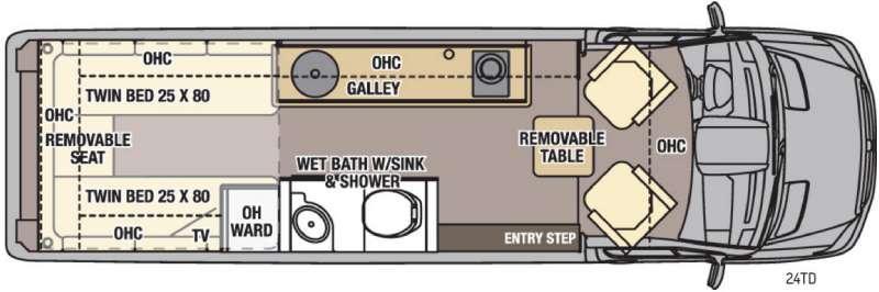 Galleria 24TD Floorplan Image