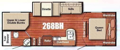 Floorplan - 2017 Gulf Stream RV Friendship 268BH