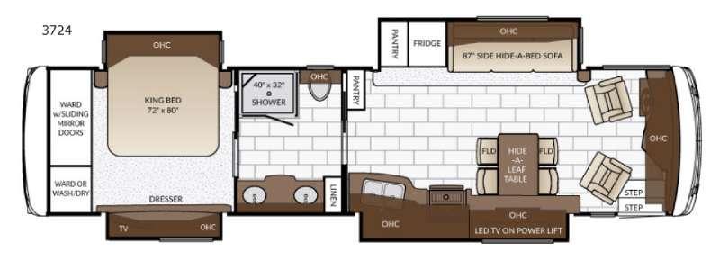 Ventana 3724 Floorplan Image