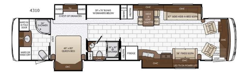Ventana 4310 Floorplan Image