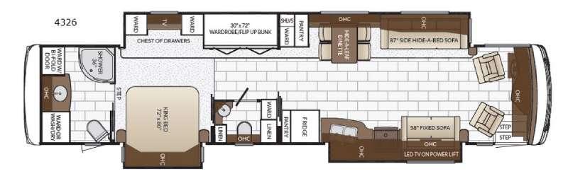 Ventana 4326 Floorplan Image
